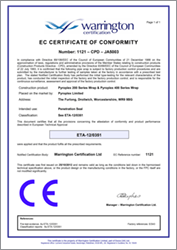 CE Pipe Wraps Certificate of Conformity
