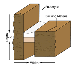 Fire Rated Sealant Single Sided Joint Illustration