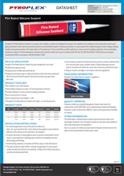 Fire Rated Silicone Sealant Datahseet