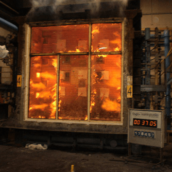 Glazed Screen Fire Test