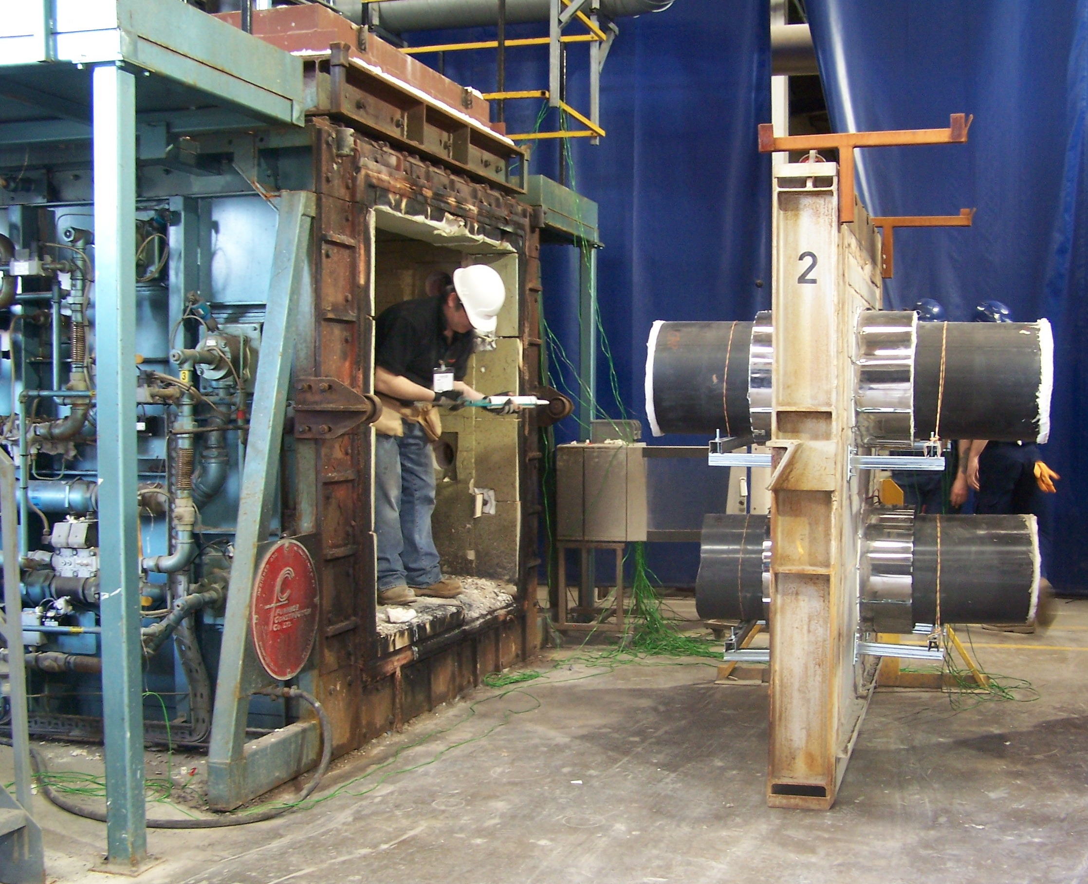 fire testing pipe collars